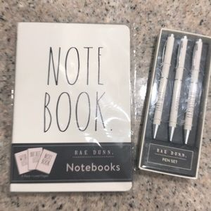 Rae Dunn note book and pen bundle 2